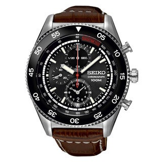 Seiko Men's SNDG57P2 Chronograph Black Watch