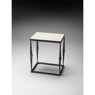 Butler Iron and Marble Side Table