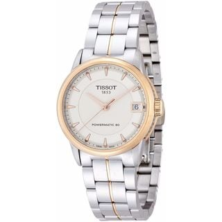 Tissot Women's T0862072226101 'T-Classic Powermatic 80' Two-Tone Stainless Steel Watch - Silver