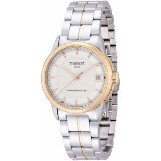 Tissot Women's T0862072226101 'T-Classic Powermatic 80' Two-Tone Stainless Steel Watch - Silver|https://ak1.ostkcdn.com/images/products/12064910/P18933886.jpg?impolicy=medium