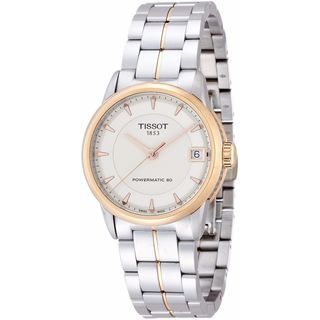 Tissot Women's T0862072226101 'T-Classic Powermatic 80' Two-Tone Stainless Steel Watch - Silver (Option: Ivory)