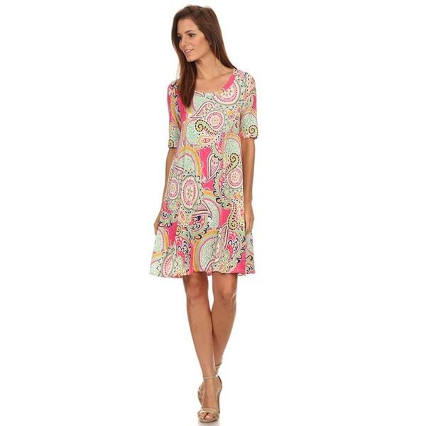 14182c5256 Shop MOA Collection Women s Multicolor Ornate Short Dress - Free ...