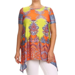 MOA Collection Women's Plus Size Ornate Top