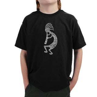 Los Angeles Pop Art Boys' Kokopelli Multicolor Cotton T-shirt