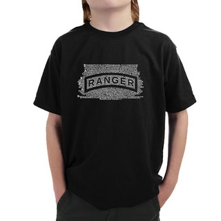 Los Angeles Pop Art Boys' The US Ranger Creed Multicolor Cotton T-shirt