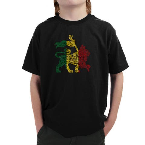 Boy's Rasta Lion One Love T-shirt