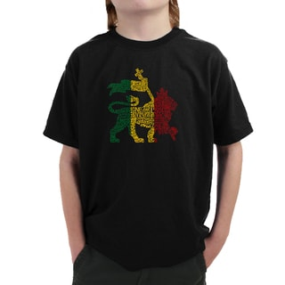 Boy's Rasta Lion One Love T-shirt