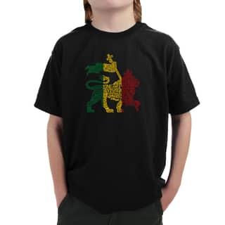 Boy's Rasta Lion One Love T-shirt|https://ak1.ostkcdn.com/images/products/12064997/P18933986.jpg?impolicy=medium
