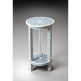 Butler Amanda Blue Bone Inlay Accent Table