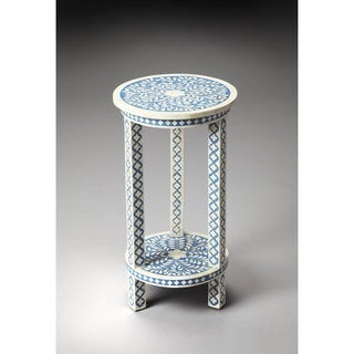 Handmade Butler Amanda Blue Bone Inlay End Table (India)
