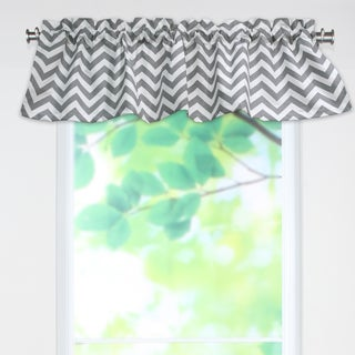 Zig Zag Ash 53x15 Rod Pocket Curtain Valance