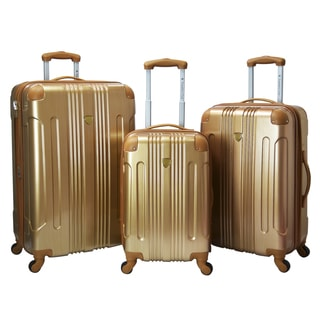 Travelers Club Polaris 3-piece Metallic Hardside Expandable Spinner Luggage Set