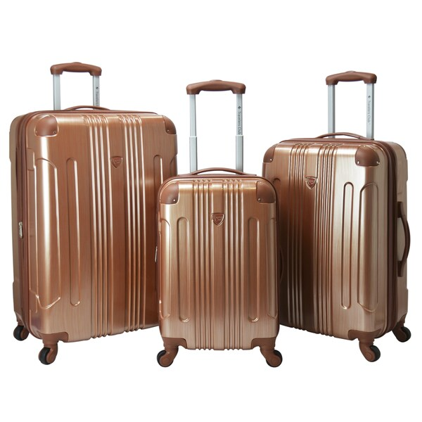 Travelers Club Polaris 3-piece Metallic Hardside Expandable ...