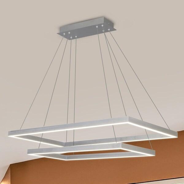 VONN Lighting VMC31710AL Atria Duo 29-inch Integrated LED Chandelier in Silver