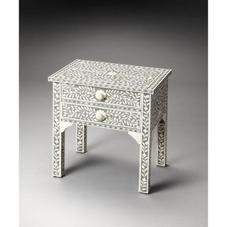 Butler Vivienne Gray Bone Inlay Side Table