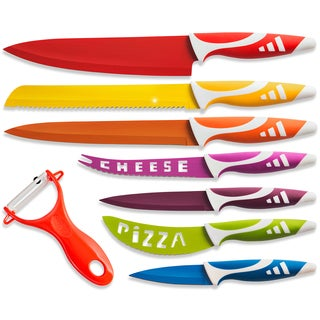 Stainless Steel 8-piece Chef Knife Set with Vegetable Peeler