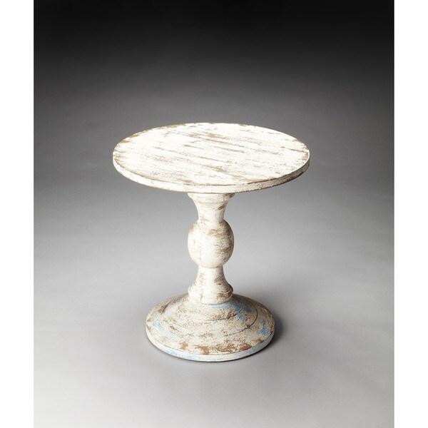 Handmade Butler Grandma's Attic Solid Wood Pedestal Table (India)