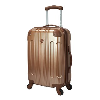 Travelers Club Polaris 20-inch Metallic Hardside Expandable Carry-on Spinner Suitcase