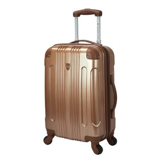 Travelers Club Polaris 20-inch Metallic Hardside Expandable Carry-on Spinner Suitcase (Option: Copper)