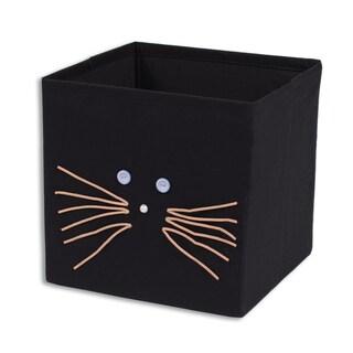 "Black Cat 11""""h x 10.75"""" Storage Bin"