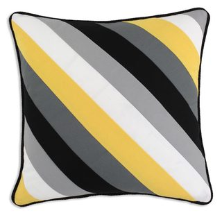 Duck Black 13 Stripe Crosswise 19x19 KE Throw Pillow
