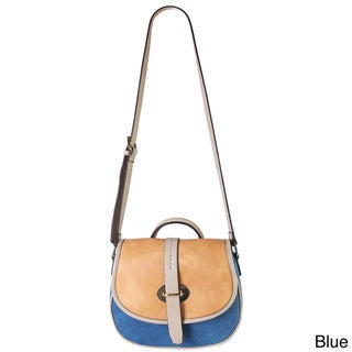 Diophy Three-tone Saddle Crossbody Handbag