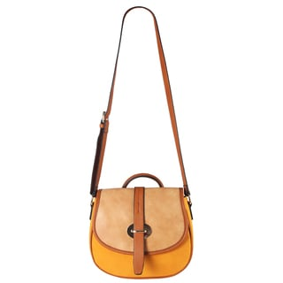 Diophy Three-tone Saddle Crossbody Handbag