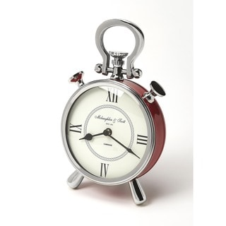 Butler Ruby Red/Nickel-finish Desk Clock