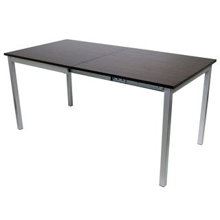 CO-2253 Espresso Finish MDF and Steel 63-inch x 31.5-inch x 30-inch Easy Slide Dining Table