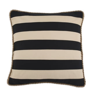 Duck Black and Tan Striped 19x19 Trimmed Throw Pillow