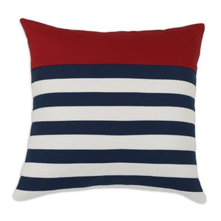 Red, White and Blue Stripes 19x19 KE Throw Pillow