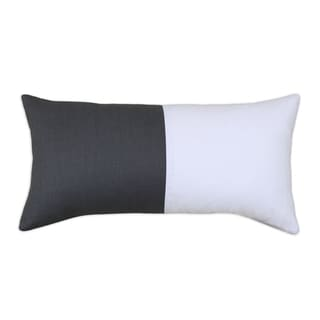 Circa Solid Charcoal-Duck White Throw Pillow