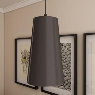 Gatria Black Modern Adjustable Hanging Light LED Pendant Light with Metal Shade