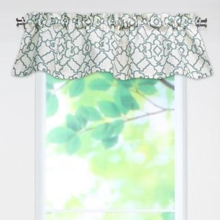 Windsor Capri Blue Rod Pocket Curtain Valance