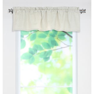 Natural Off-white Linen 53-inch x 15-inch Rod Pocket Curtain Valance