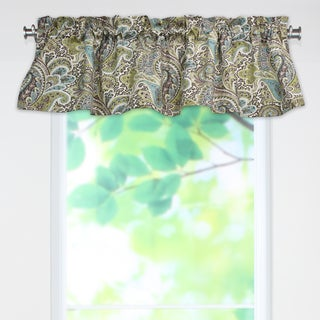 Paisley Chocolate 53x15 Rod Pocket Curtain Valance
