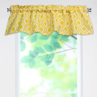Nichole Corn Yellow 53x15 Rod Pocket Curtain Valance
