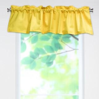 Solid Corn Yellow 53x15 Rod Pocket Curtain Valance