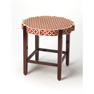 Butler Anastasia Yellow Bone Inlay Accent Table