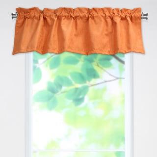 Slam Dunk Tangerine 53x15 Rod Pocket Curtain Valance