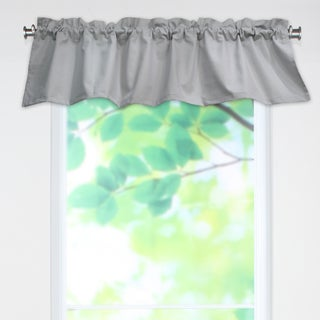 Lucky Grey 53x15 Rod Pocket Curtain Valance