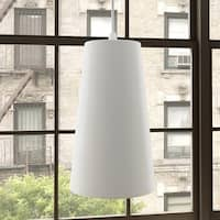 Vonn Lighting Gatria White Aluminum 11-inch x 6-inch LED Modern Adjustable Hanging Pendant Light with Metal Shade