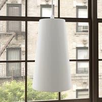 Vonn Lighting VMP21511WH Height Adjustable Pendant with LED Light Bulb White