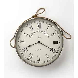 Butler Rockport Nickel Finish Wall Clock