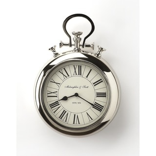 Butler Guilford Nickel Finish Wall Clock