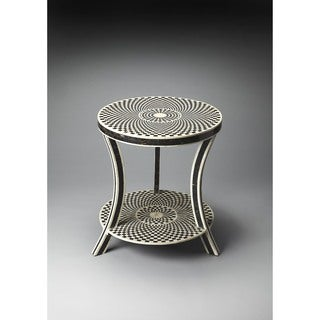 Handmade Butler Bone and Horn Inlay End Table (India)