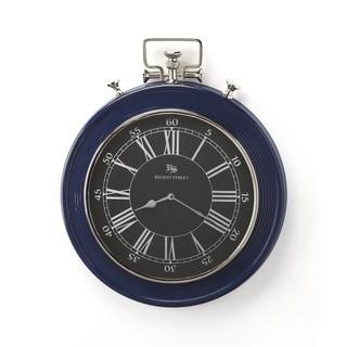 Butler Sapphire Blue Finish Wall Clock