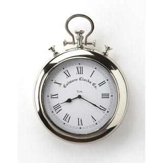 Butler Exeter Nickel Aluminum/Stainless Steel Wall Clock