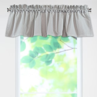 Houndstooth Storm/Twill 53w x 15l Rod Pocket Curtain Valance