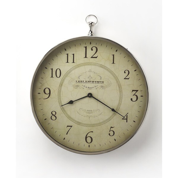 Butler Le Blanc Nickel Finish Wall Clock